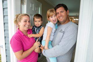 Homeowner family shot